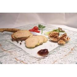 Foie gras de canard entier mi-cuit façon torchon
